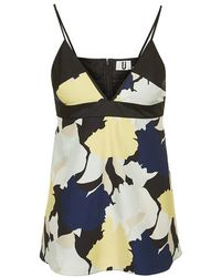 Topshop Abstract Floral Print Cami Top By Unique - Lyst