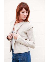 Goddis | Bianca Cropped Cardi In Fleece | Lyst
