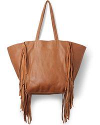 Cleobella - Fringe Leather Tote - Lyst