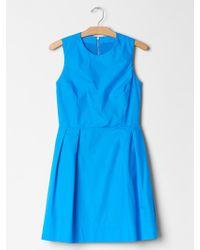 Gap Sleeveless Fit & Flare Dress - Lyst