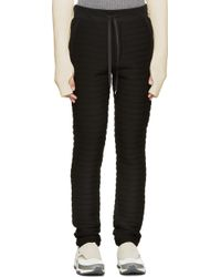 Johnlawrencesullivan - Black Quilted Lounge Trousers - Lyst