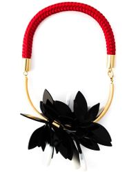 Marni Floral Necklace - Lyst