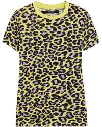 Sibling - Leopard-print Cotton-jersey T-shirt - Lyst