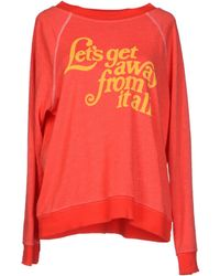 Wildfox Red Sweatshirt - Lyst