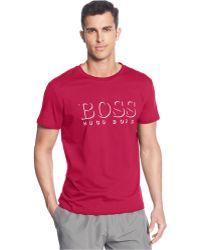 Hugo Boss Boss Logo Crew-Neck T-Shirt - Lyst