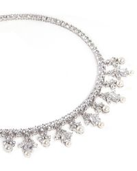 Cz By Kenneth Jay Lane Petal Cluster Cubic Zirconia Necklace - Lyst