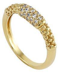 Lagos Caviar Diamond Ring gold - Lyst