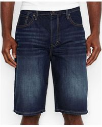 Levi's 569 Loose Straight-Fit Midnight Scraped Shorts - Lyst