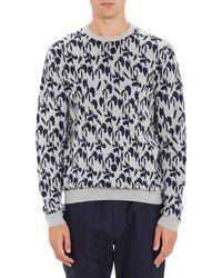 Jil Sander Geo-Wave Jacquard Sweater - Lyst