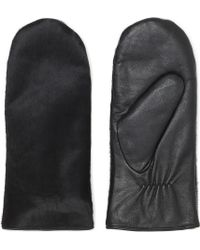 Whistles Pony Front Leather Mitten - Lyst
