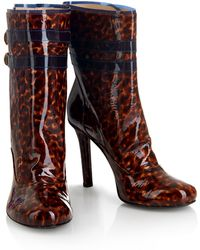 House of Holland - Aw13 'rave Nana' Tortoiseshell/ Navy Ankle Boots - Lyst