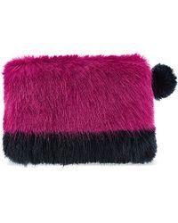 Helen Moore - Faux-Fur Clutch Bag Bag - Lyst