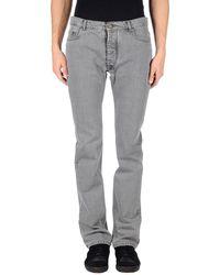 Maison Margiela Denim Trousers gray - Lyst