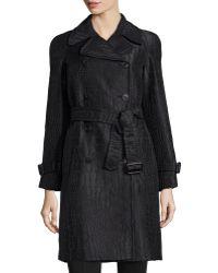 Philosophy di Alberta Ferretti Lizard-Embroidered Belted Jacket - Lyst