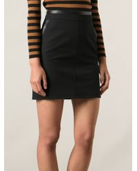Gucci Black Fitted Skirt - Lyst