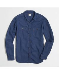 J.Crew Factory Indigo Workshirt - Lyst