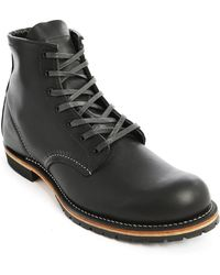 Red Wing Black Round Beckman Boots - Lyst