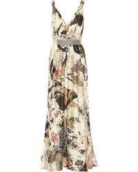 Donna Karan New York Printed Silk Gown - Lyst