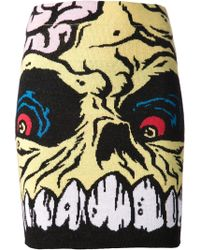 Jeremy Scott Madball Knit Skirt - Lyst