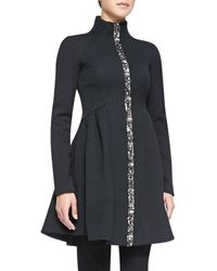 Nanette Lepore Three-ring Coat W Zip Front - Lyst