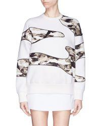 Neil Barrett Sculpture Camouflage Print Sweatshirt white - Lyst