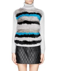 Opening Ceremony Heather Striped Turtleneck Sweater - Lyst