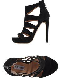 Steve Madden Black Sandals - Lyst