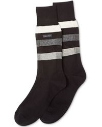 Calvin Klein Mens Reverse Channel Dress Crew Socks - Lyst
