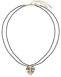 Topshop Partners in Crime Necklace Set  Gold - Lyst