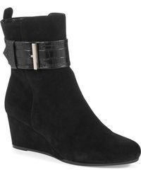 Bandolino Ayden Wedge Ankle Boots - Lyst