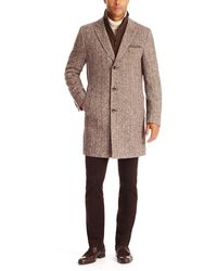 Hugo Boss The Logan  Virgin Wool and Silk Coat with Detachable Quilted Lining - Lyst
