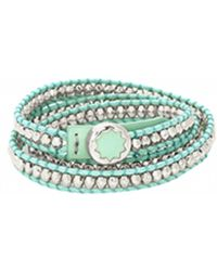 House Of Harlow 1960 Karma Wrap Bracelet teal - Lyst