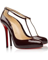 Christian Louboutin Ditassima 120 Patentleather Tbar Pumps - Lyst