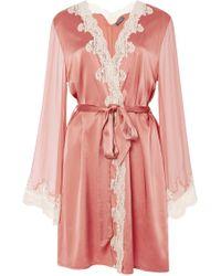 Myla Heritage Short Robe - Lyst