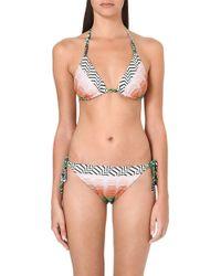 Missoni Reversible Crochetknit Bikini Green - Lyst