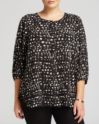 Nydj Plus Abstract Graphic Print Blouse - Lyst