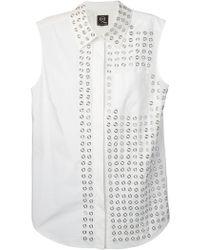 McQ by Alexander McQueen Eyelet Detail Shirt - Lyst