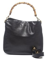 Gucci Preowned Black Leather Diana Hobo Bag - Lyst