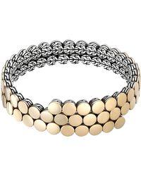 John Hardy Dot 18K Gold & Silver Coil Bracelet - Lyst