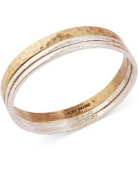 Lucky Brand Two-Tone Modern Metals Bangle Bracelet - Lyst
