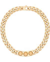 Balenciaga Classic Pale Gold 3 Studs Necklace - Lyst