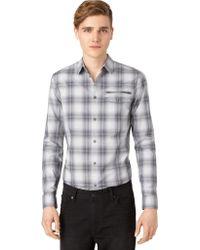 Calvin Klein Jeans Plaid Sport Shirt - Lyst