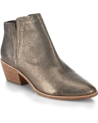 Joie Jodi Metallic Leather Ankle Boots - Lyst