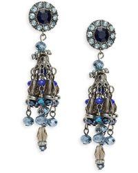 Catherine Stein - Beaded Chandelier Earrings - Lyst