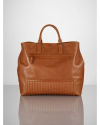 Ralph Lauren Brown Quilted Tote - Lyst