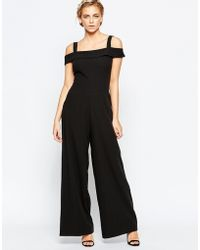 Wal-G   Jumpsuit With Bardot Neckline   Lyst