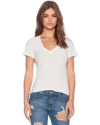 James Perse Casual Tee with Reverse Binding - Lyst