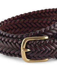 Ralph Lauren Braided Herringbone Belt Xs-xl - Lyst