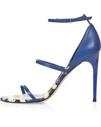 Topshop Womens Ripple2 Multi Snake Sandals Blue - Lyst