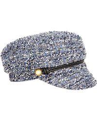 Eugenia Kim Elyse Tweed Army Hat - Lyst